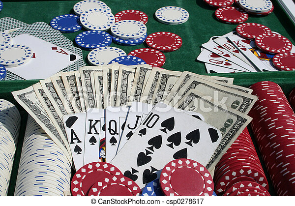 gambling chips - csp0278617