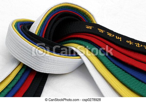 martial,  Arts,  3, ceintures - csp0278928