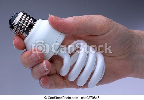 lightbulb, エネルギー, 低い - csp0279845