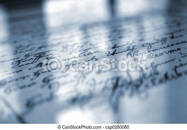 Old Handwriting - csp0280080