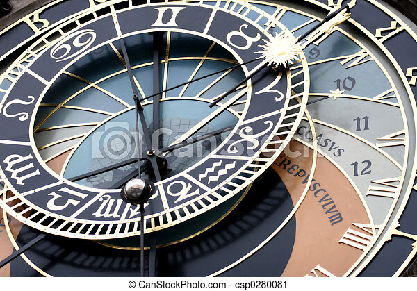 Astronomical Clock Detail - csp0280081