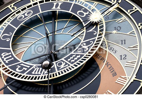 Astronomical Clock Detail - csp0280081