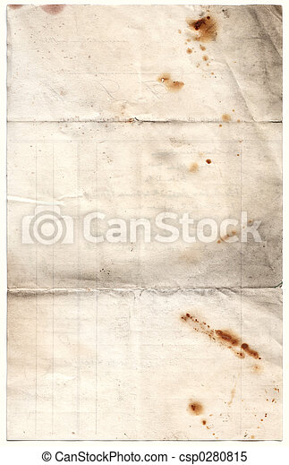 Antique Decayed Paper (inc clipping path) - csp0280815