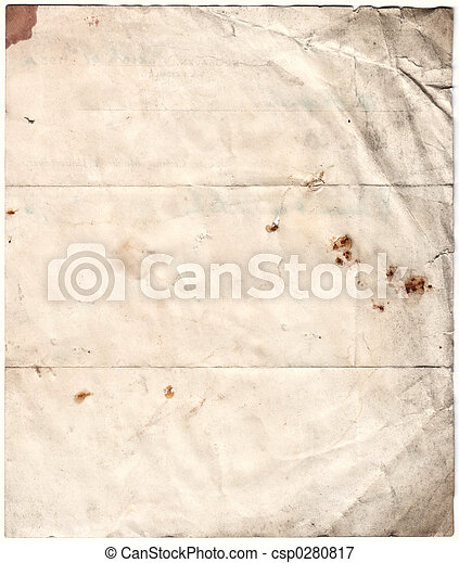 Antique Decayed Paper (inc clipping path) - csp0280817