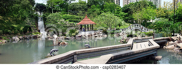 Park in Hong Kong - csp0283407
