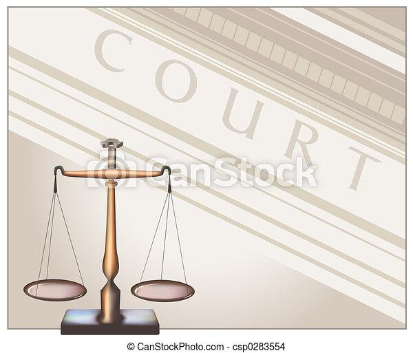 Scales - Court - csp0283554