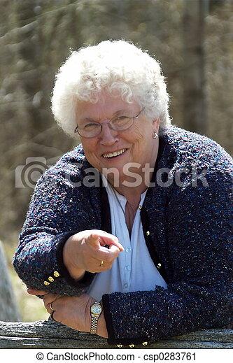 Grandmas telling you - csp0283761