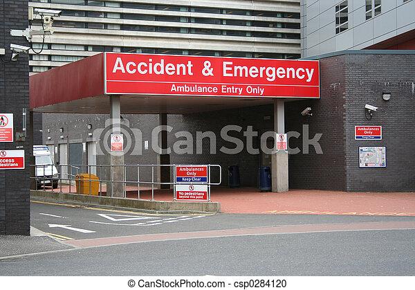 入口, 事故, 緊急事件 - csp0284120