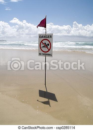 Danger!!! no swimmig