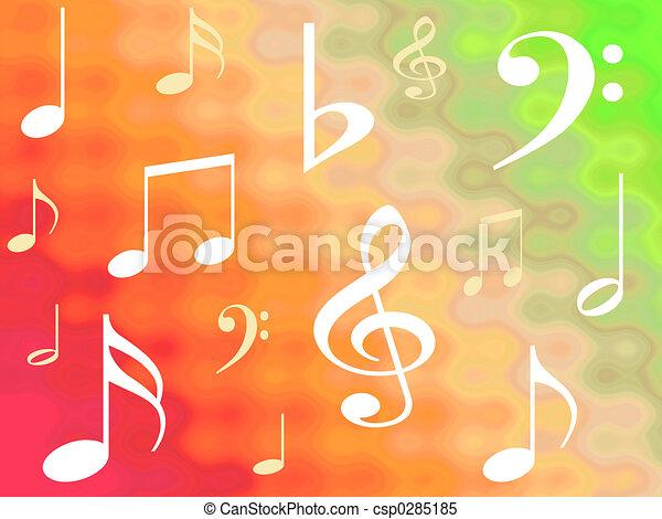 Musical notes - csp0285185