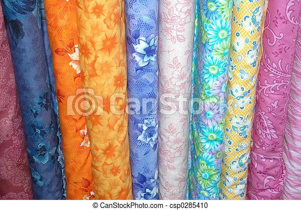 Colorful fabric bolt - csp0285410