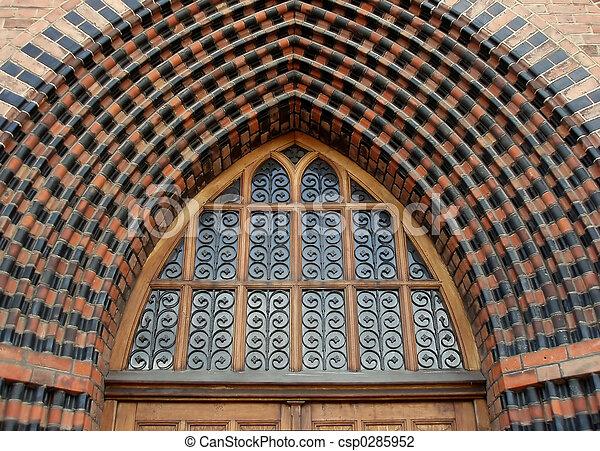 哥特式, 教堂 - csp0285952