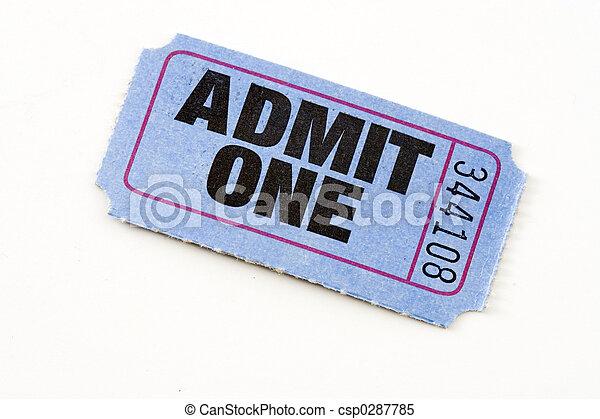 Admit ticket - csp0287785
