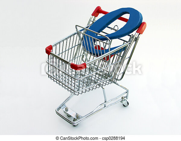 E-Commerce shopping cart (top view) - csp0288194