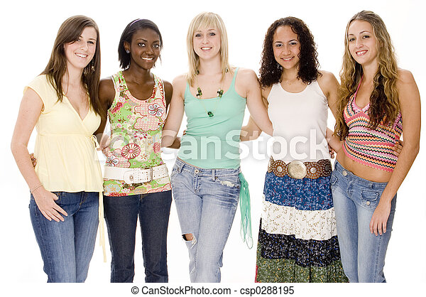 Group of Teens - csp0288195