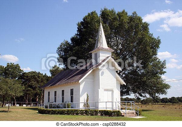Small Rural Church in Texas - csp0288432