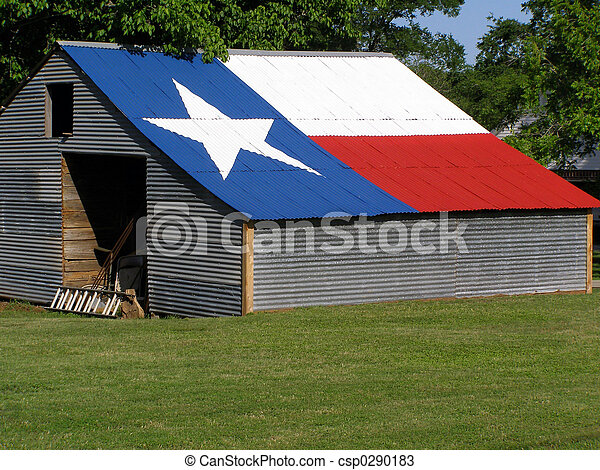 Shed with Texas Flag - csp0290183