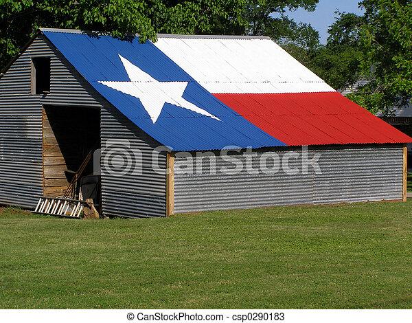 Schuppen, Fahne,  Texas - csp0290183