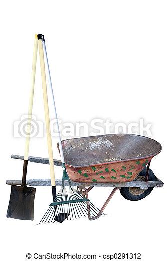 gardening supplies - csp0291312