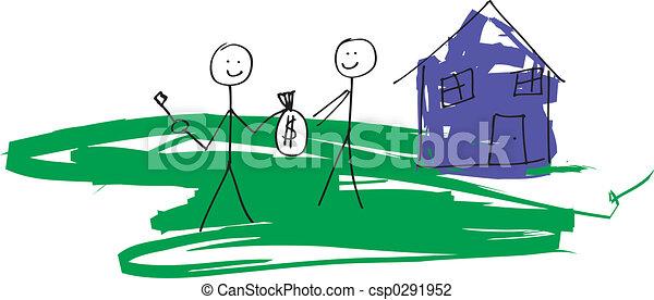 Clipart di reale propriet bambino come disegno for Aprire i piani casa artigiano concetto