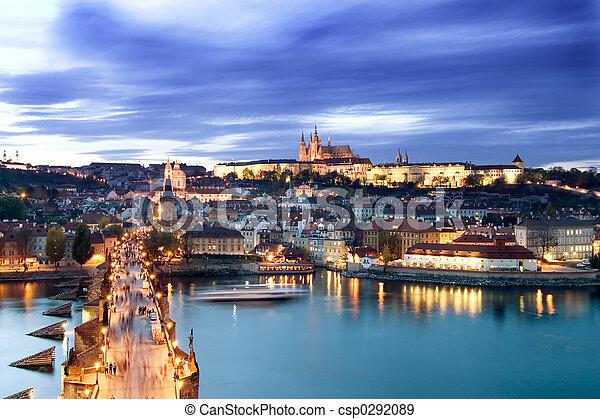 Prague Castle Cityscape - csp0292089