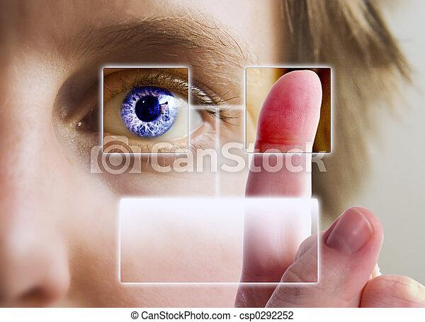 Finger Print Iris Scan - csp0292252