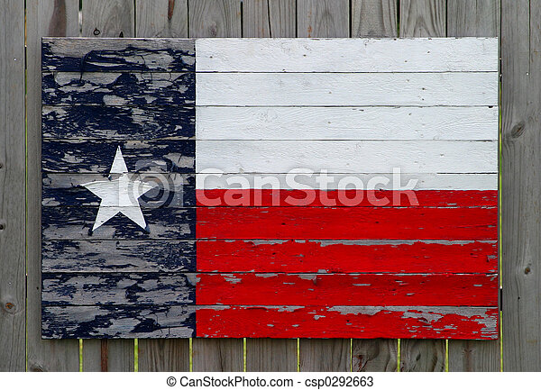 Painted Texas Flag - csp0292663