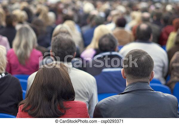 たくさん, 人々 - csp0293371