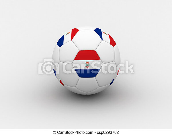 Paraguay soccer ball - csp0293782