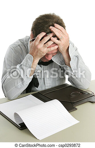 Frustrated Worker - csp0293872