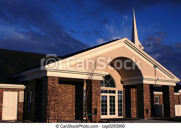 Sundown Church - csp0293990