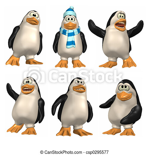 Cartoon Penguin - csp0295577