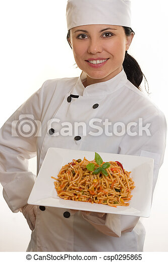 Chef with pasta - csp0295865