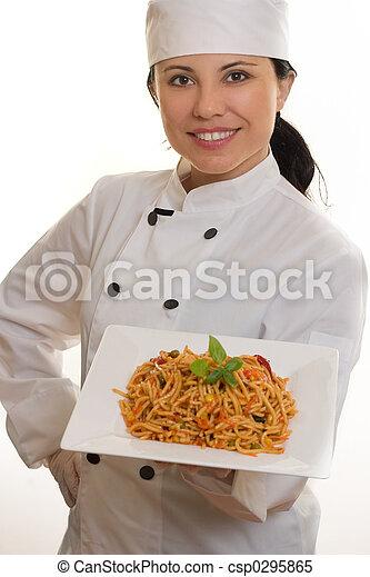 Chef with pasta - csp0295865