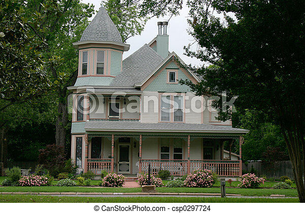 Stock Photo Of Victorian House Extremely Ornate And