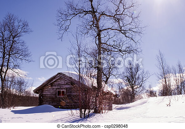 Pel culas de invierno caba a un invierno caba a en invierno csp0298048 buscar stock - Cabana invierno ...
