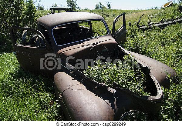 Rusted Prairie Car - csp0299249