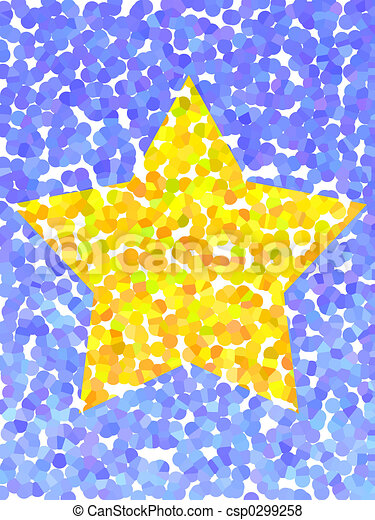 Yellow star - csp0299258