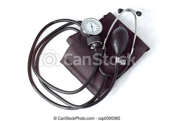 Manual blood pressure monitor medical tool isolated - csp0300365