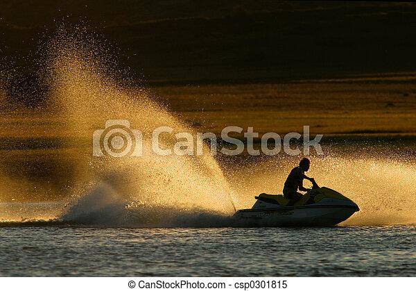 Jet ski action - csp0301815