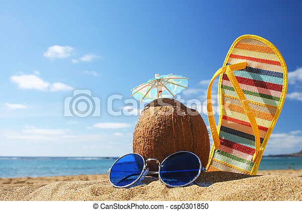 Summer Beach Scene - csp0301850