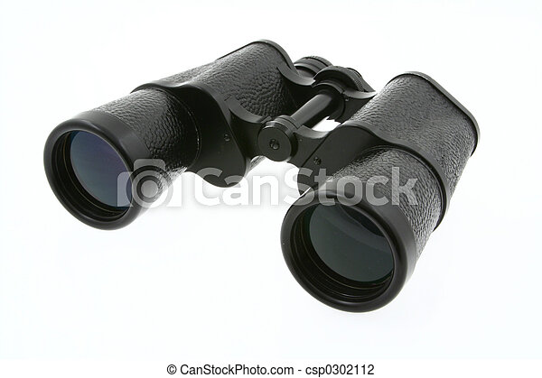 binoculars on white - csp0302112