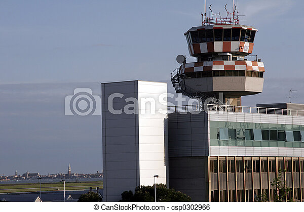 Airport of venice with skyline - csp0302966