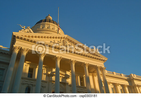 加利福尼亞, 州議會大廈 - csp0303181