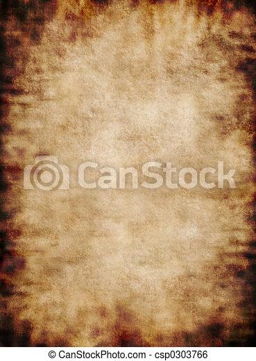 Ancient rustic grungy parchment paper texture background - csp0303766