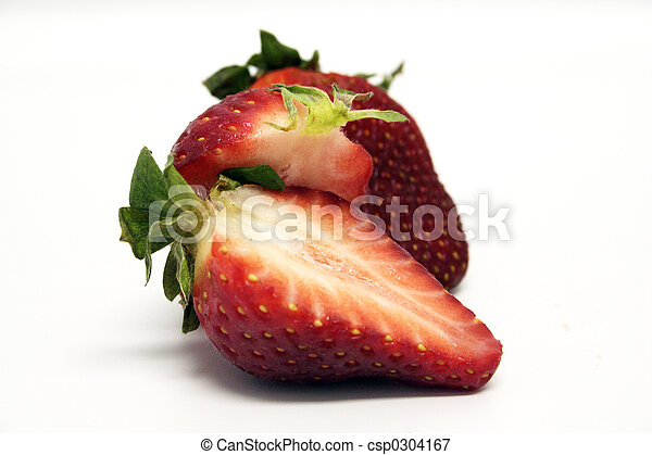 Fruit - Strawberry Cut - csp0304167