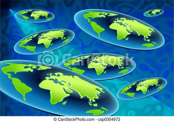 flat world backgroun - csp0304972