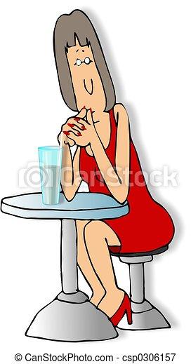Sitting alone - csp0306157