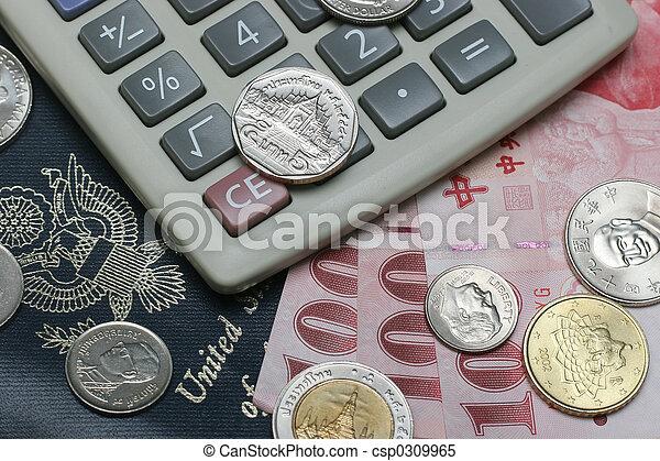 passport and money - csp0309965