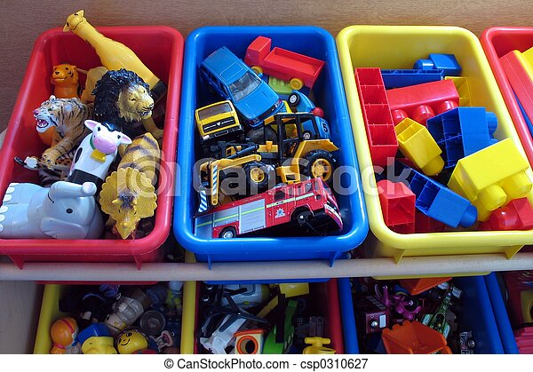 spielzeug, kästen, 2 - csp0310627